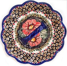 Add this… https://homeofpolishpottery.com/collections/egg-plate/products/boleslawiec-polish-pottery-unikat-egg-serving-plate-red-garden