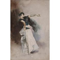 "Study for ""The Spanish Dancer"", John Singer Sargent, 1882, Dallas Museum of Art"