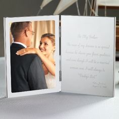 """""""To My Father"""" Tablet Frame   Father of the Bride Tablet Frame - 5 star rating"""