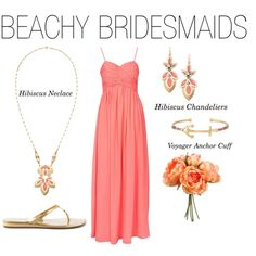 Stella and Dot Beachy Bridesmaids by jodylprice on Polyvore featuring NLY Eve, GUESS and Stella & Dot