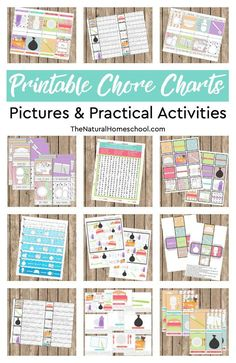 Here, we show you a beautiful bundle with 12 Printable Chore Charts Pictures and Practical Activities that you and your kids will love! Chore Chart For Toddlers, Printable Activities For Kids, Charts For Kids, Toddler Activities, Learning Activities, Preschool Games, Free Printables, Chore Chart Template, Chore Charts