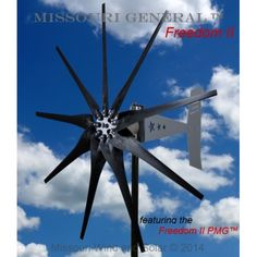 2000 Watt 9 Blade Missouri General™ Freedom II Wind Turbine featuring the superior performance and quality of the Missouri Freedom II PMG™ and our Raptor Generation 4 Carbon Fiber Blades.