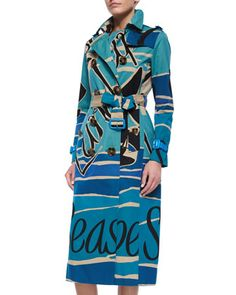 Seascape-Print+Double-Breasted+Trenchcoat+by+Burberry+Prorsum. Visit www.italianist.com
