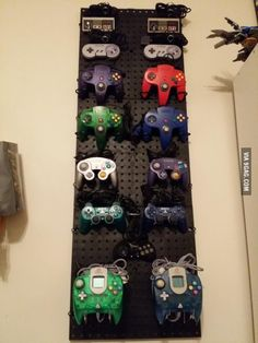 Finally setup up my wall of controllers