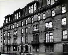 Stuyvesant Flats.  Oldest apartment house in New York City, 142 East 18th Street, Manhattan. (Berenice Abbott, December 08, 1935)  demolished in 1958