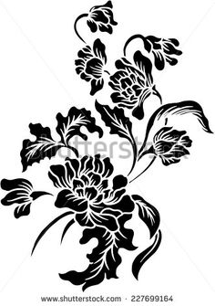 Find Black Floral Backgroundbatik Pattern stock images in HD and millions of other royalty-free stock photos, illustrations and vectors in the Shutterstock collection. Flower Henna, Flower Art, Stencil Painting, Fabric Painting, Batik Pattern, Pattern Flower, Paisley Pattern, Longboard Design, Stencil Designs