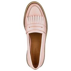 Sole Diva Suzie Chunky Loafers E Fit | Simply Be (130 RON) ❤ liked on Polyvore featuring shoes, loafers, pink shoes, pink flats, pink flat shoes, chunky loafers and pink loafers