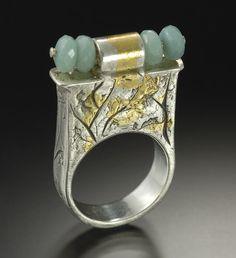 Lora Hart metal clay hollow ring