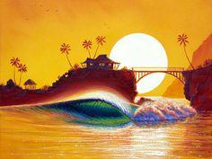 Ocean art - A little kitschy but love the colours