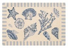 Treasures by the Sea Rug in Blue and Taupe