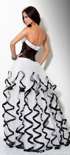JOVANI White Black gown