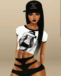 Play a social game, chat to make new friends & create your own avatar with IMVU! Sexy Black Art, Black Love Art, Black Girl Art, Drawings Of Black Girls, Girly M, Black Art Pictures, Black Cartoon, Cool Anime Girl, Beautiful Fantasy Art