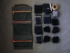 Ultimate Travel Organizer organizing underwear