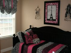 My Red and black paris themed bedroom | Bedrooms!! | Pinterest ...