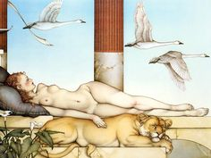 """Going Nowhere"" oil painting by Michael Parkes"