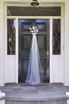 Front door for a Bridal Shower - so cute! #churchweddingideas