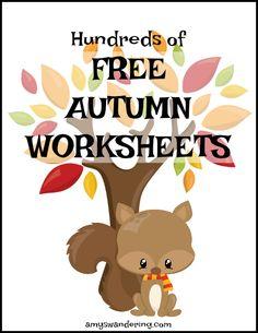100s of Free Autumn Worksheets