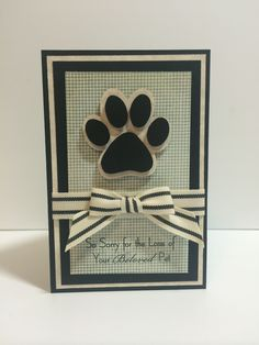 Loss of pet sympathy card