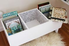 DIY BOOK BIN - Les Petits Gazette - I've had so many DMs about the book bin I made back in November, from people asking for DIY instr -
