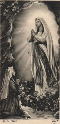 """I AM THE IMMACULATE CONCEPTION""-THE BLESSED MOTHER OF GOD TO ST. BERNADETTE"