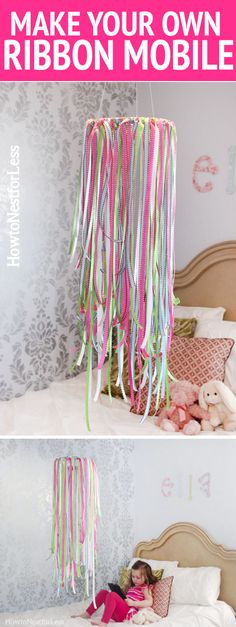 How to make a simple, inexpensive ribbon mobile.