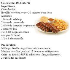 Côtes levées St-Hubert Rib Recipes, Copycat Recipes, Chicken Recipes, Recipies, Cooking Recipes, Ketchup, St Hubert, Canadian Food, Main Meals