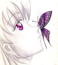 dibujos a lapiz anime - Buscar con Google
