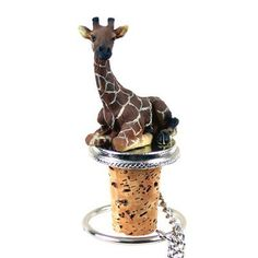 Realistic Hand Painted Cold Cast Stone Resin Giraffe on Wine Bottle Stopper Wine Making Supplies, Wine Making Kits, Wine Making Equipment, Wine Making Process, Giraffe Cakes, Spiritual Animal, Wine Bottle Stoppers, Cast Stone, Giraffe Print