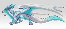 [Custom] Ice dragon by Dinkysaurus on DeviantArt Mythical Creatures Art, Mythological Creatures, Magical Creatures, Robot Dragon, Ice Dragon, Wings Of Fire Dragons, Cool Dragons, Fantasy Dragon, Fantasy Art