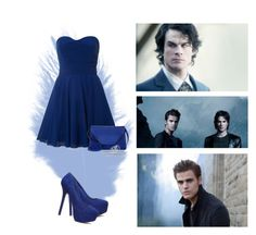 """""""Damon and Stefan Salvatore"""" by fans-polyvore ❤ liked on Polyvore featuring TFNC, Valextra, Steve Madden, BERRICLE, Vince Camuto, love, stefan, thevampirediaries, damon and Salvatore"""