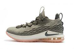online retailer 7e10b 9eb0c Popular Nike LeBron 15 Low Dark Stucco Light Bone Dark Stucco-Sail AO1755- 003