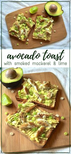 Creamy avocados smashed onto golden toast & topped with smoked mackerel, spring onions & zesty lime. Heaven in every bite! Avocado toast FTW!