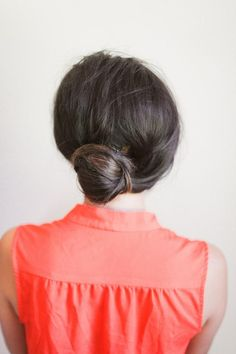 simple updo with only 2 bobby pins