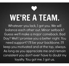 We're A Team love love quotes in love love quote i love you image quotes picture quotes instagram quotes