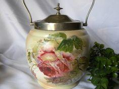 Antique English Carlton Ware Biscuit Jar by DonnaMarieAntiques