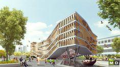 Moderní sídlo společnosti. #MasterDesign Samos, Atrium, Czech Republic, Prague, Peru, Opera House, Fair Grounds, Building, Travel
