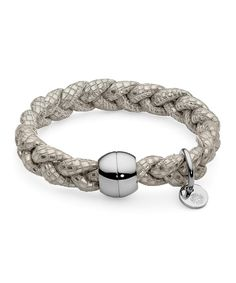 Pulsera Qudo Acero Napa Marfil CODINO Internet, Wedding Rings, Engagement Rings, Bracelets, Collection, Jewelry, Fashion, Ivory, Jewel