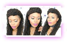 Simple Summer Loc Hairstyle Tutorial Featuring Crinkles/Jungle Barbie