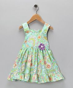 Take a look at this Aqua Ruffle Dress - Infant, Toddler & Girls by Lil'Daisies on #zulily today!