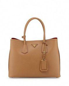 d99d75f5c069 Saffiano Cuir Medium Double Bag