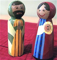 Nativity peg dolls