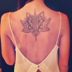 Lotus tattoo.
