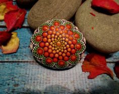 Mandala Stone Junior RESERVED for Joy by KimberlyVallee on Etsy