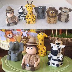 Trufas modeladas bichos e caçador para festa Safari#benditosbrigadeiros #doces #docespersonalizados ...