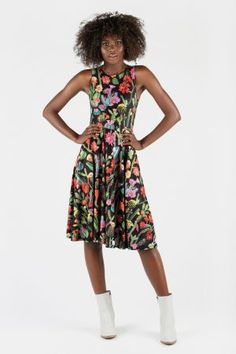 Clothing, Shoes & Accessories Girls' Clothing (sizes 4 & Up) Expressive Kids Girls Neon Floral Flowers Print Legging Skater Midi Dress Crop Top Playsuit