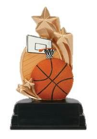 Basketball Star Resin is Tall Full Colored Basketball Scene and Gold Shooting Stars Includes a Gold Aluminum Plate for Engraving. Basketball Trophies, Shooting Stars, How To Memorize Things, Resin, Plate, Color, Scene, Characters, Spaces