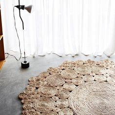 Round Geranium Rug in Natural- Armadillo and Co | Urban Couture - Designer Homewares & Furniture Online