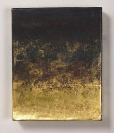 by Japanese artist Sei Arimori Gold leaf at the bottom which gradually rises into patina brass squares into different colors