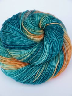 100% Superwash Merino, Hand Dyed Fingering/Sock Yarn, So Long and Thanks for all the Fish