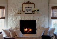 Featured On Design Sponge Stone Fireplace
